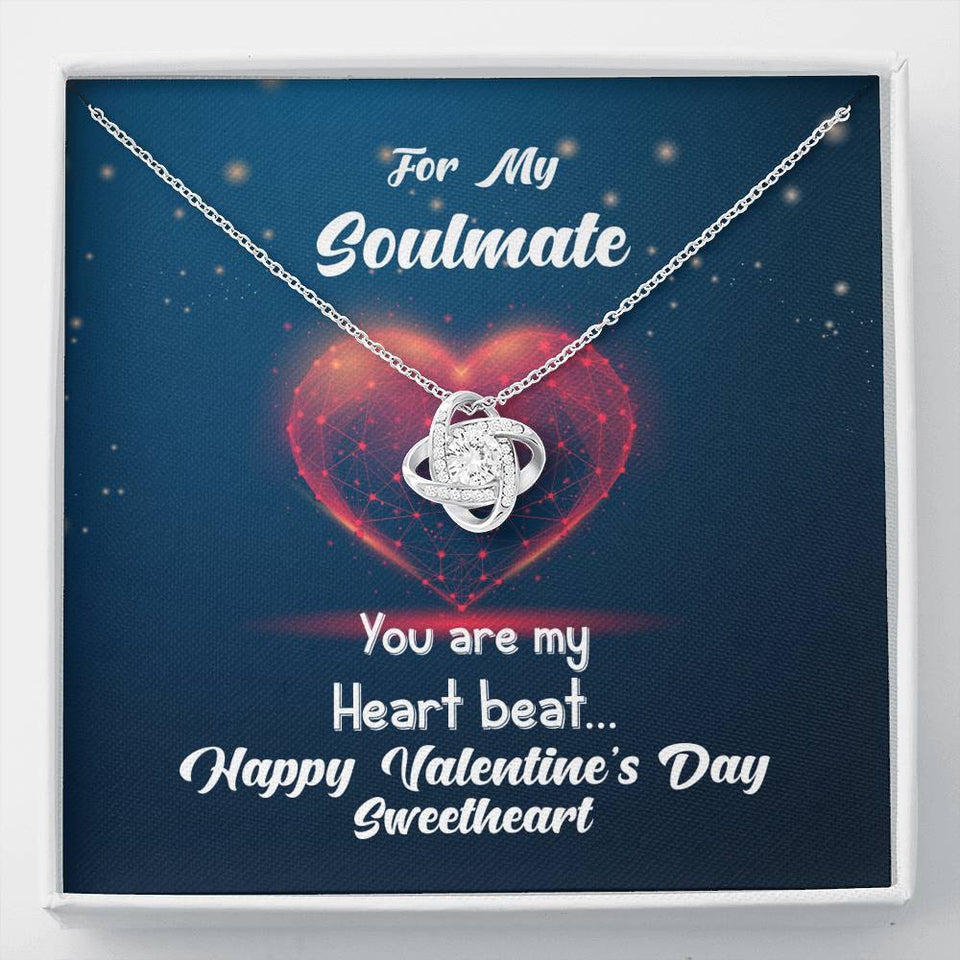 Valentine's Day Necklace Gift - For My Soulmate, Wife, Girlfriend, Bride To be, Partner, Ladies Jewelry for Anniversary, Birthday Gift