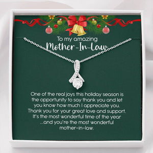 Christmas Gift for Mother in Law Necklace