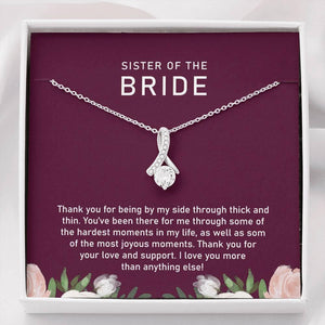 Sister of the Bride Gift, Sister Wedding Gift, Sister Maid of Honor Gift, Sister Gifts, Thank you Gift to Maid of Honor, Matron of Honor - Vnamus