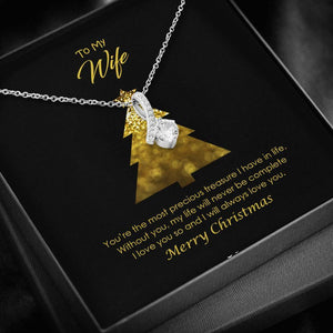 To My Wife Merry Christmas Alluring Beauty Necklace - Vnamus