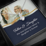 Personalized Father & Daughter Photo Necklace, Father Daughter Gift, Custom Father Daughter Jewelry 14k White Gold over Stainless Steel