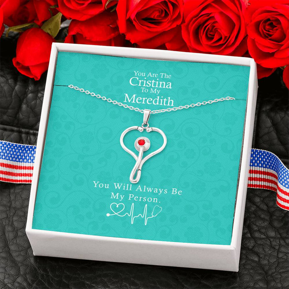 YOU ARE THE CRISTINA TO MY MEREDITH NECKLACE, GREY'S ANATOMY, BEST FRIEND NECKLACE, BEST FRIEND GIFT JEWELRY, BEST FRIEND BIRTHDAY GIFTS