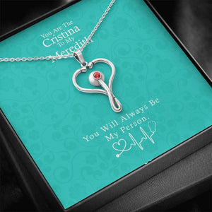 You Are The Cristina To My Meredith Necklace, Grey's Anatomy, Best Friend Necklace, Best Friend Gift Jewelry, Best Friend Birthday Gifts - Vnamus