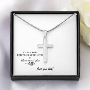 To My Dad Artisan Crafted Cross Necklace - Vnamus
