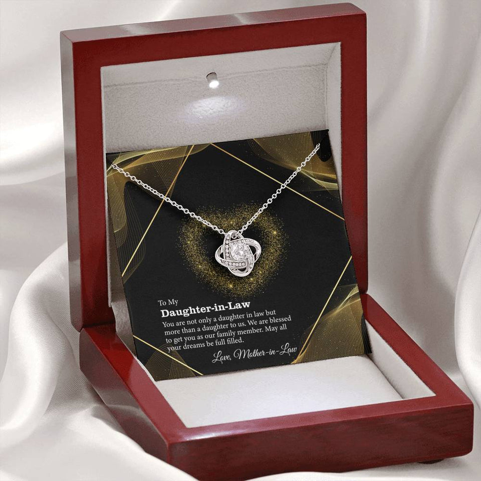 To my Daughter-in-Law, You are more than a Daughter in law Necklace Gift