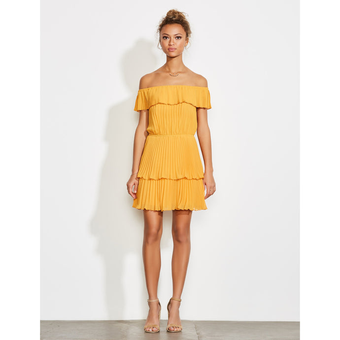 Libby -Pleated Mini Dress