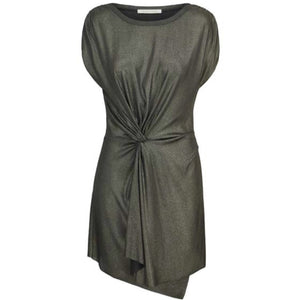 Adorn - Metallic Asymmetrical Knot Dress