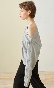 Levi - Button Down Sleeve Sweatshirt