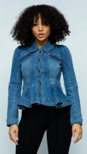 Load image into Gallery viewer, Leif - Denim Peplum Jacket