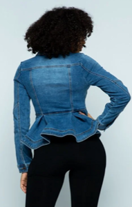Leif - Denim Peplum Jacket