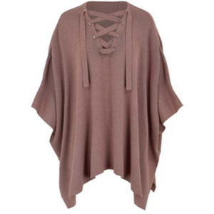 Asher - Lace Up Poncho