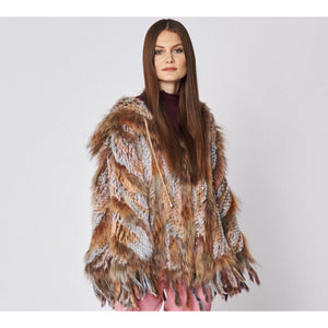Amber - Coney & Fox Fur Poncho