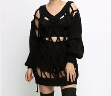 Load image into Gallery viewer, Linked- Caged knit sweater