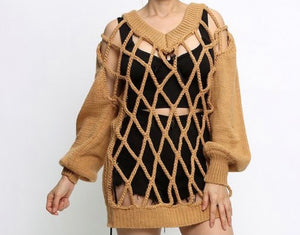 Linked- Caged knit sweater