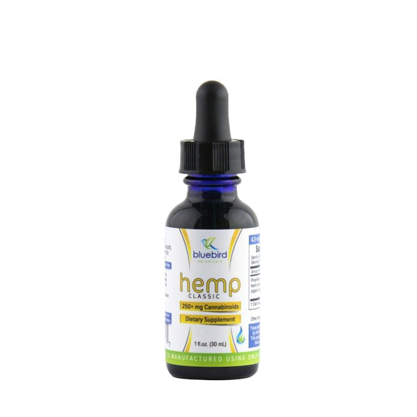 Bluebird Botanicals Hemp Classic CBD Oil 250MG - 1OZ