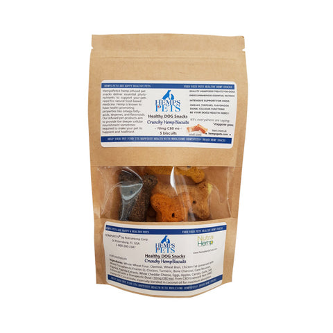 CBD Edible Hemp Oil Medium Dog Biscuits 10mg/ea.