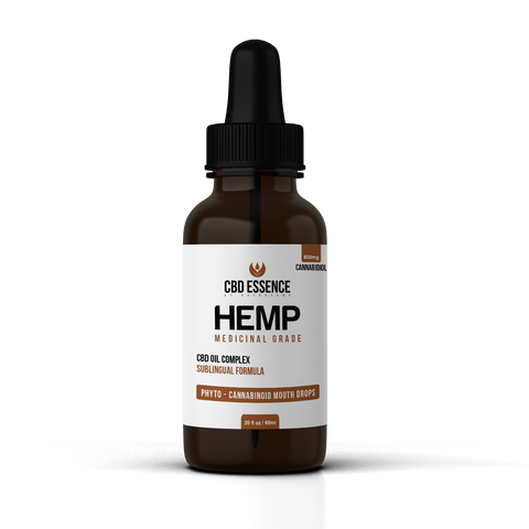 CBD Edible Hemp Oil Tincture – 600mg CBD – 2oz Bottle