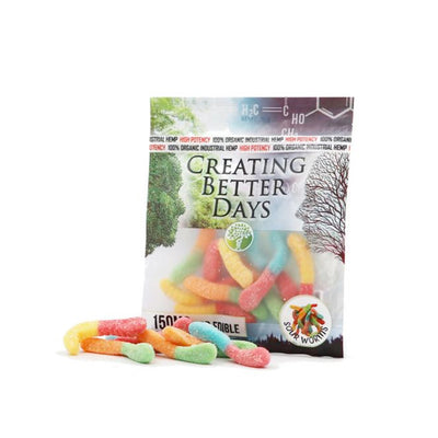 Creating Better Days CBD Sour Gummy Worms 150MG