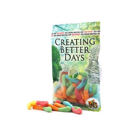 Creating Better Days CBD Sour Gummy Worms 300MG