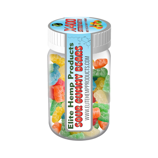 Elite CBD Gummies – CBD Infused Gummy Bear x400 Strength (Classic)