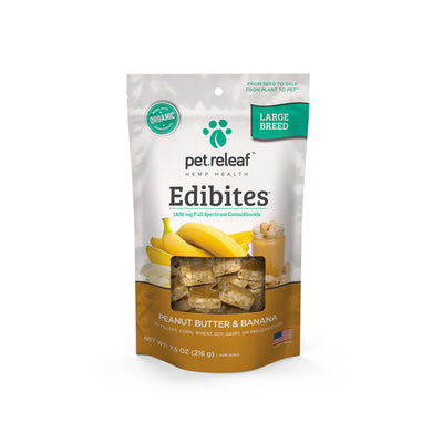 Elixinol Large Breed CBD Dog Treats – Peanut Butter Banana Edibites