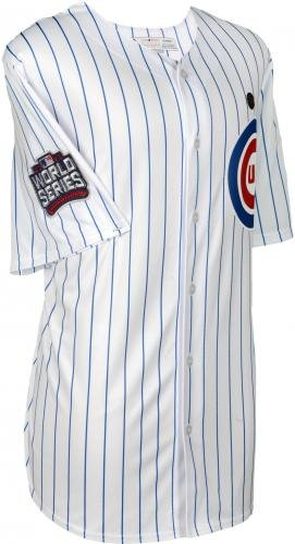 reputable site 47743 3b421 Javier Baez Chicago Cubs 2016 MLB World Series Champions Autographed  Majestic White Replica World Series Jersey - Fanatics Authentic Certified