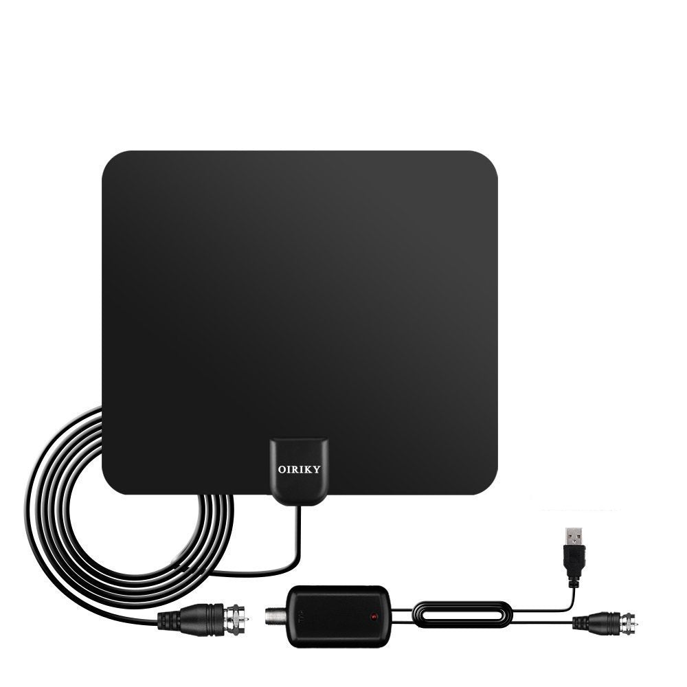 80 Miles Long Range TV Antenna - 2018 NEWEST VERSION OIRIKY Indoor Digital  HDTV Antenna with Detachable Amplifier Signal Booster - 13 2FT High Perform