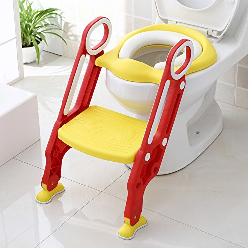 Peachy Potty Toilet Trainer Seat With Step Stool Ladder Adjustable Machost Co Dining Chair Design Ideas Machostcouk