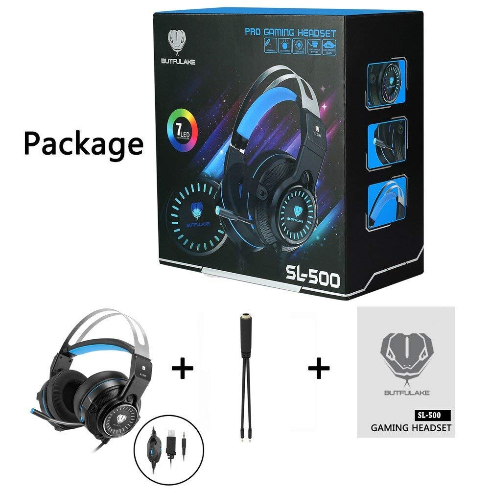 SADES SA920PLUS Stereo Gaming Headset for PS4, PC, Xbox One Controller,  Noise Cancelling Over Ear Headphones with Mic, Bass Surround, Soft Memory