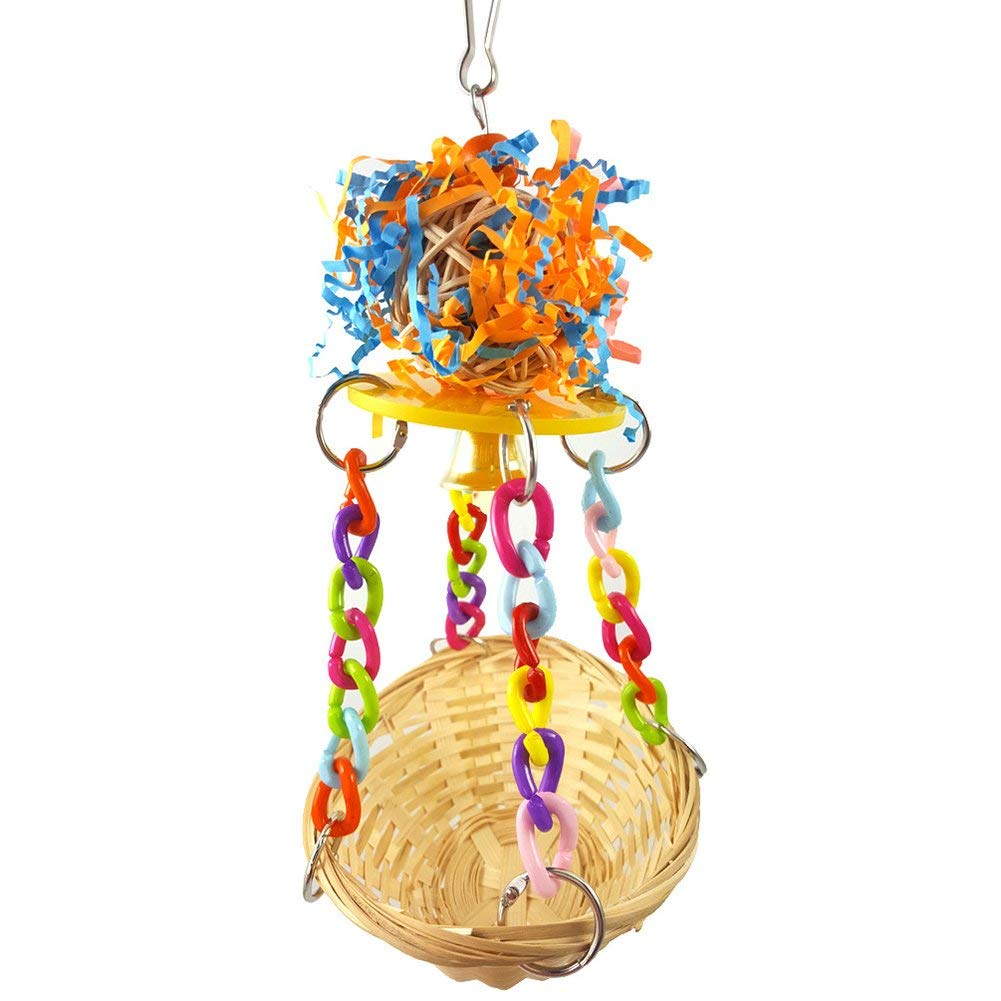 Bird Cages & Nests Analytical Bird Toy Nest Parrot Hand Knitting Bed Sling Chain Model Hammock For Climbing Biting Bird Swing Bed Toy Random Color Delivery