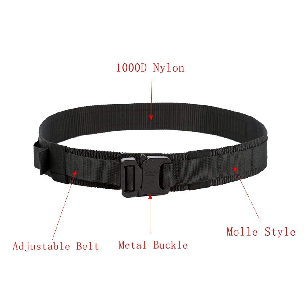 yisibo Tactical Belt,Gun Riggers Belt with Quick-Release Metal  Buckle,1 5inch