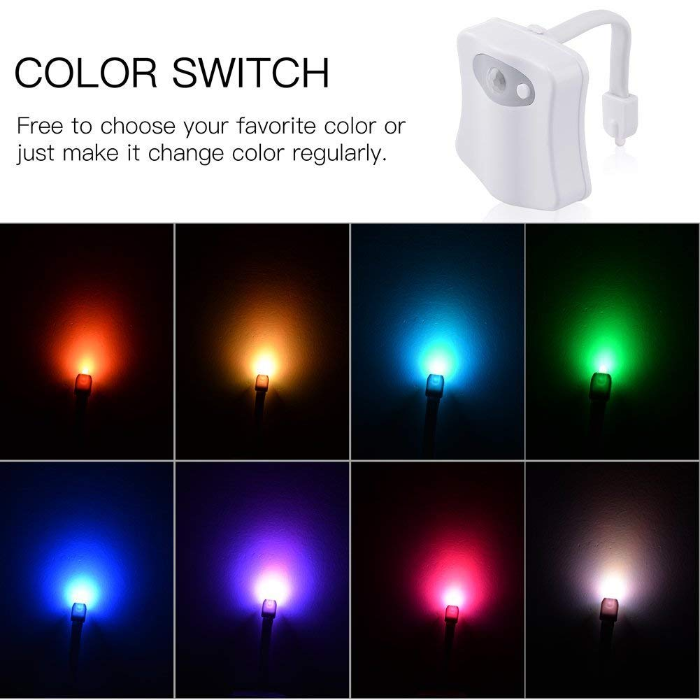 Weird Novelty Funny Birthday Gag Gifts for Men The Original Toilet Night Light Gadget Kids /& Toddlers Fun Bathroom Lighting Add on Toilet Bowl Seat Dad Motion Sensor Activated LED 9 Color Modes