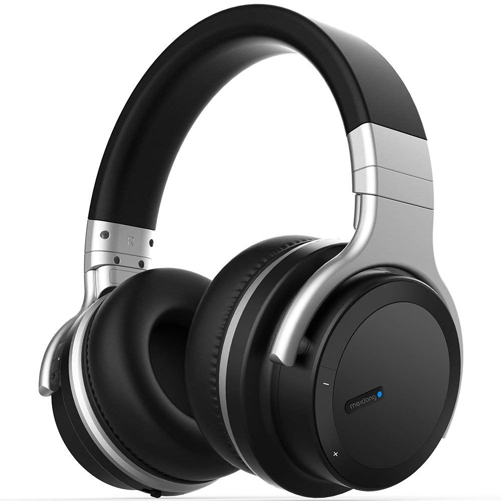 429771919 Active Noise Cancelling Bluetooth Headphones [2018 Updated] Meidong E7 PRO  Wireless Headphones Over Ear 30H Playtime Hi-Fi Stereo Headsets with  Microphone ...