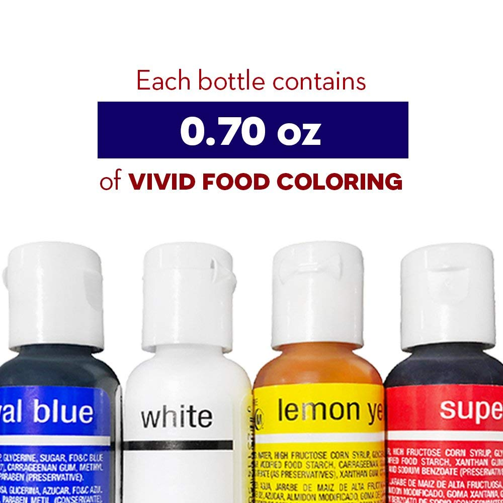 Chefmaster 4th of July Food Coloring Kit, 4-Pack Gluten Free Food Colors  for Slime and Cake Decorating.70 oz Concentrated Food Coloring in Royal  Blue, ...