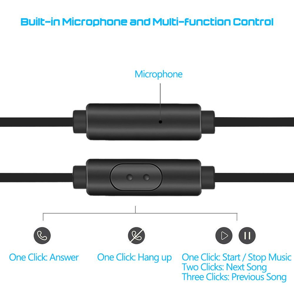 5 Packs Earbud Headphones with Remote and Microphone, SourceTon In Ear  Earphone Stereo Sound Tangle Free for Smartphones, Laptops, Gaming, Fits  All
