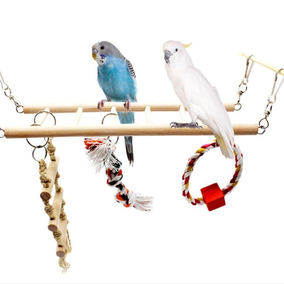 Analytical Bird Toy Nest Parrot Hand Knitting Bed Sling Chain Model Hammock For Climbing Biting Bird Swing Bed Toy Random Color Delivery Bird Cages & Nests Pet Products