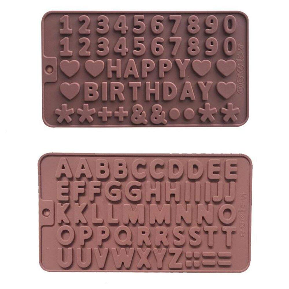 Silicone A To Z Letters Happy Birthday Numbers Symbols Mold