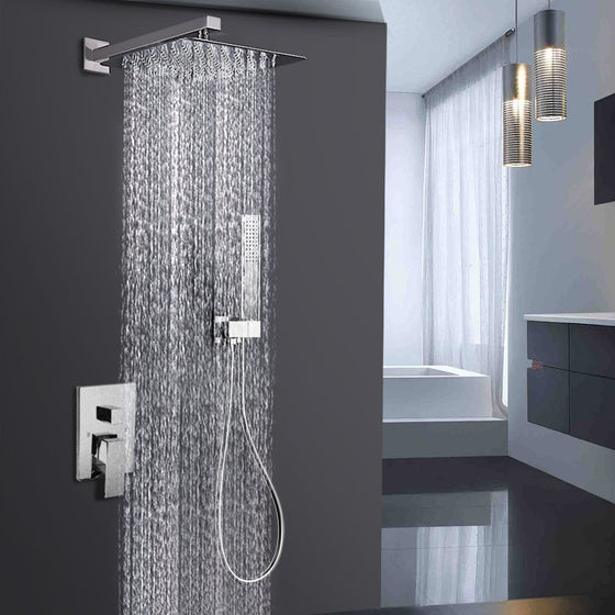 Shower Equipment Objective Bathroom Shower Faucet Chrome Or Brushed Led Rain Shower System Set Embedded Box Thermostat Mixer Valve Control Shower Head Way Bracing Up The Whole System And Strengthening It
