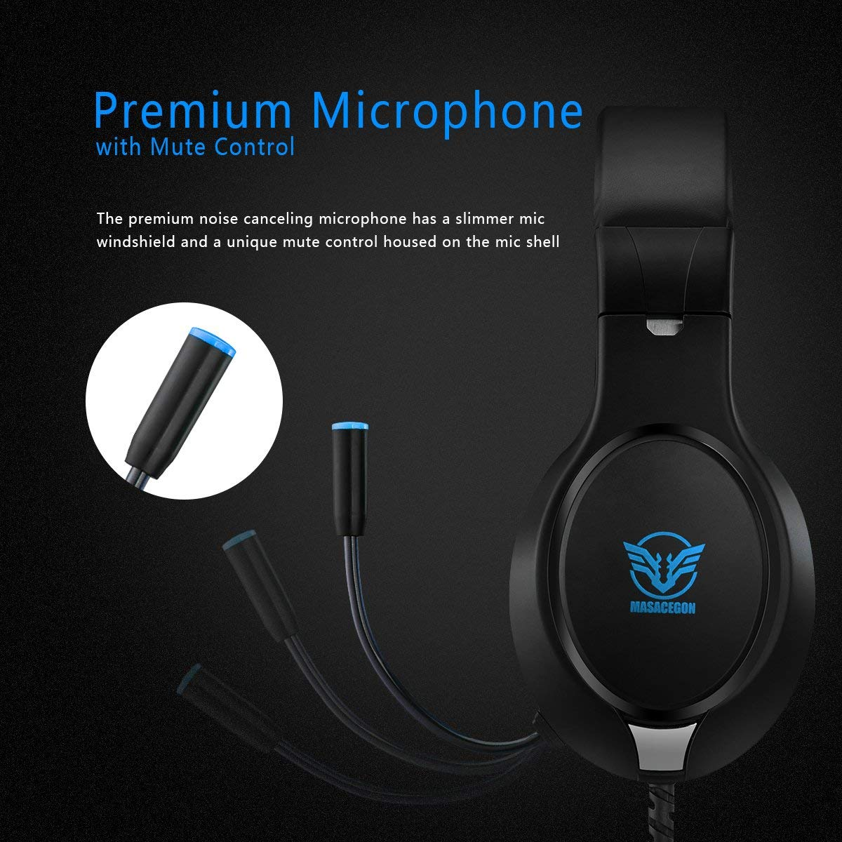 Xbox One Headset,Rodicoco PS4 Gaming Headset Bass Surrounding Stereo Sound  Over Ear Headphone with Noise Cancelling Microphone, Volume Control for