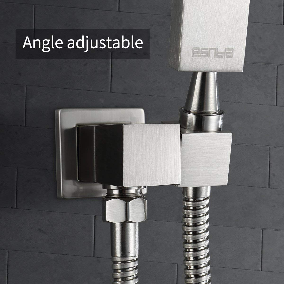 Esnbia Luxury Rain Shower System Wall Mounted Shower Combo Set with ...