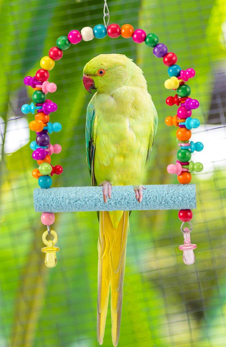 Bird Supplies 16cm Bird Toys Clib Chew Parrot Grinding Stand Perches Cage Cockatiel Parakeet Drop Ship 100% High Quality Materials Pet Products