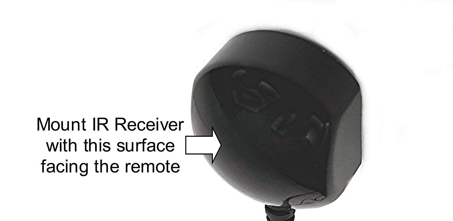 Inteset 38 kHz Infrared Receiver Extender Cable for HD DVR's and STB's-  Check Compatibility