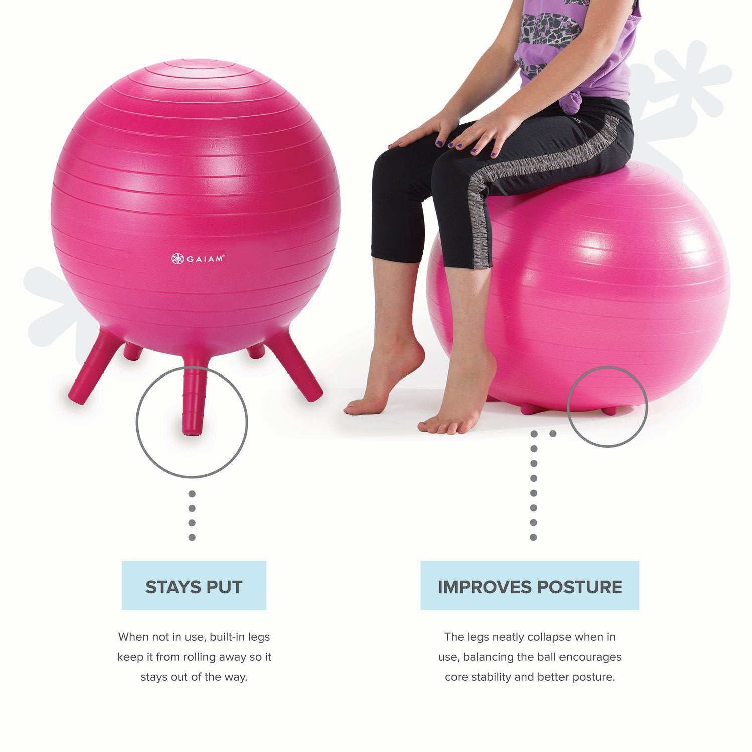Prime Gaiam Kids Stay N Play Childrens Inflatable Balance Ball Caraccident5 Cool Chair Designs And Ideas Caraccident5Info