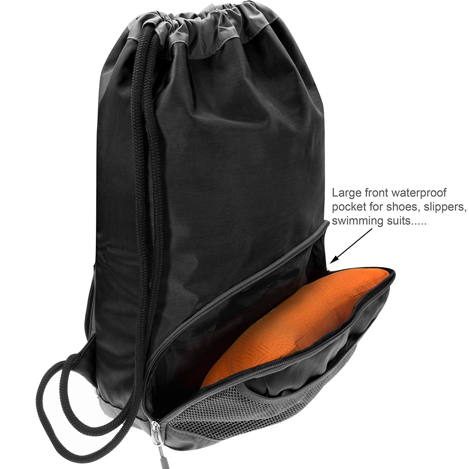 ButterFox Waterproof Fabric Swim PE Gym Sports Bag Drawstring Sackpack  Backpack for Kids 33559d7b0fdda