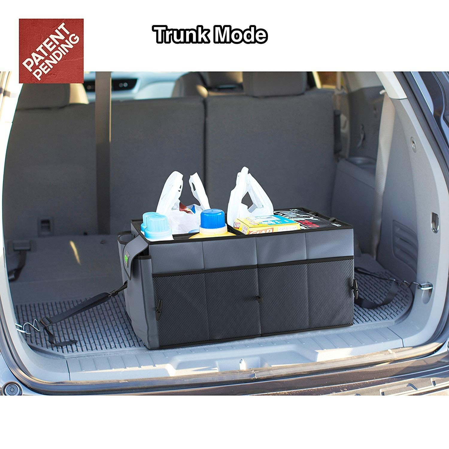 Car Trunk Storage >> Drive Auto Products Car Trunk Storage Organizer With Straps 1 Pack