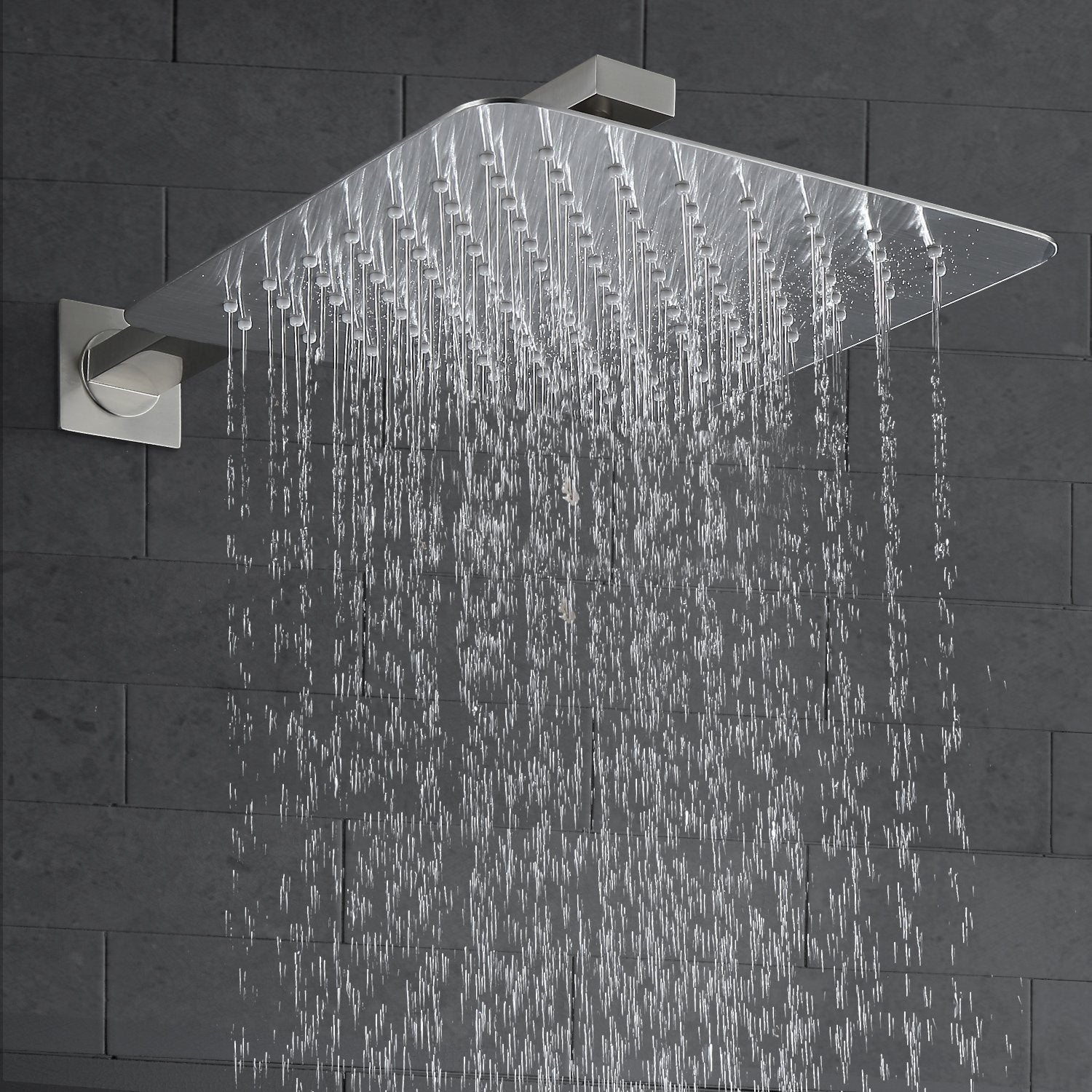 Esnbia Luxury Rain Shower System Wall Mounted Shower Combo Set With