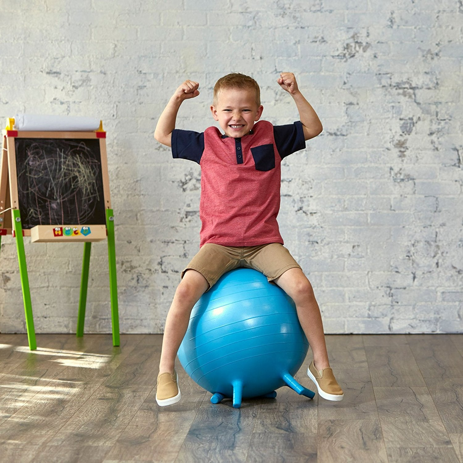 Stupendous Gaiam Kids Stay N Play Childrens Inflatable Balance Ball Caraccident5 Cool Chair Designs And Ideas Caraccident5Info