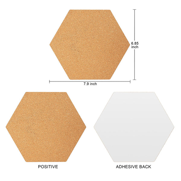 Famistar Hexagon Cork Board Tiles Mini Wall Bulletin Boards Pin
