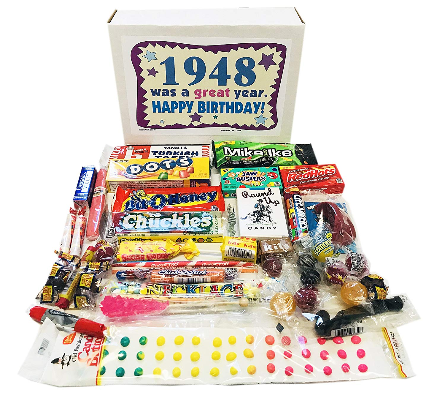 Woodstock Candy 1948 70th Birthday Gift Box