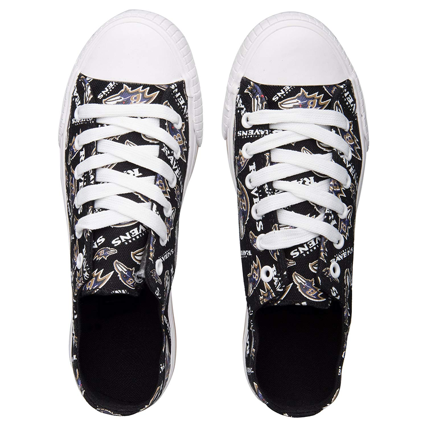 93b1aa384c9565 FOCO NFL womens   Low Top Repeat Print Canvas Shoe - vazlo